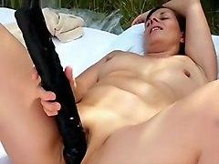 Amateur French Mature Sunbathing Nude And Mastur...