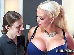 Big tit pornstar Alura Jenson fucks a hung younger stud