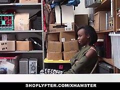 shoplyfter - cute ebony teen trades sex for freedom
