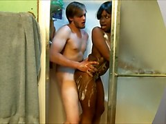 Surprise Interracial SHOWER FUCK