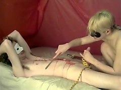 Mistress Fingers, Burns, And Makes Her Boy Cum