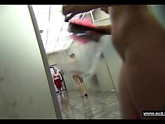 female intimacy in s public shower room