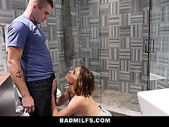 badmilfs- hot teen seduced by gf and stepmom