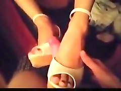 Asian shoejob  footjob