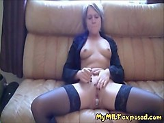 my milf exposed hot wife in stockings and boots stuffed