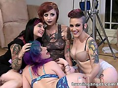 Exotic pornstars Rizzo Ford, Prince Yahshua, Proxy Paige in Amazing HD, DP porn clip