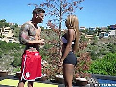 busty latina teen takes on her ripped pt