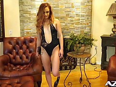 petite teen rides the sybian and cums hard