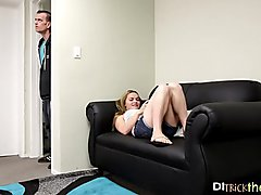 Cuckold bf watches his hot gf get fucked