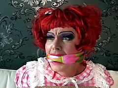 Sissy Slave Dizzy Miss Sizzy Gagged!