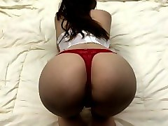 fuck until boyfriend cums inside me - red panties pov - creampie