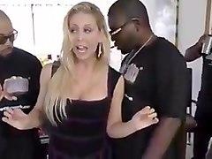 sexy MILF interracial gangbang
