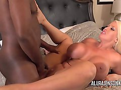 Busty MILF Alura Jenson pounded by a big black cock