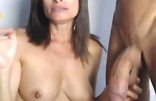 British Naughty and Horny Mom From QuickSexTonight.Com Trying To Suck Her Real American Step Son'_s Monster Dick on Webcam