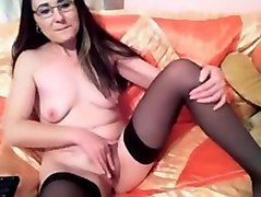 moldavian teacher pounding her pussy to a creamy orgasm