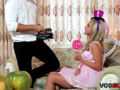 blonde teen vinna red gets nailed