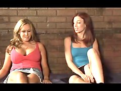 Two girls in jail get very friendly.