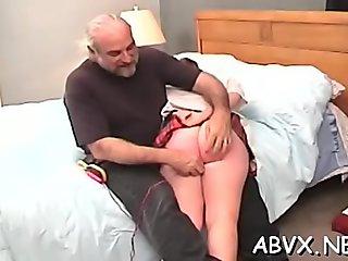 Raunchy bimbo is often masturbating