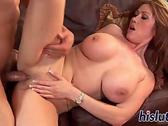 busty asian cougar has her pussy pumped