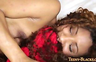Ebony babe gets pounded