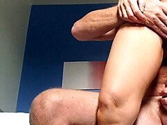 Wife fucking me to climax with her beautiful asshole on show