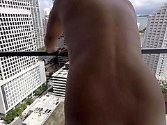 balcony bj with a cumshot