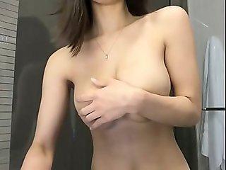 Amazing busty brunette on webcam