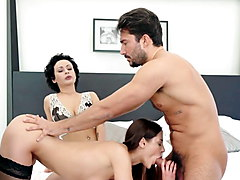 Private.com - Threesome! Stacy Bloom & Amaris Fuck A Cock!