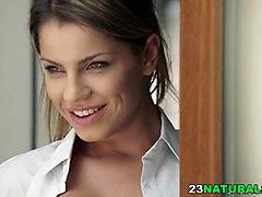 sexy euro girl angel rivas on a long dick