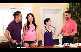 Two Daughters Swap Fuck Their Dads