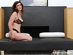 thick tall white girl fucks her first black man at casting