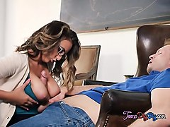 young intern layla london plays with big cock of boss