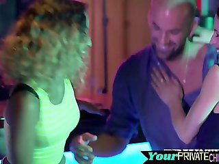 Partying models fucked after cocksucking