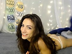 teen cute italian brunette solo at