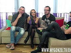 kami karol gets group busted by dieter von stein & friends
