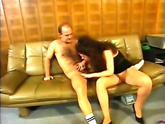 rough and passionate sex with german girl in the office