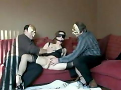 amateur mmmf threesome - wife shared with two friends
