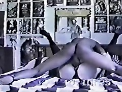 Horny Stockings, Interracial sex clip