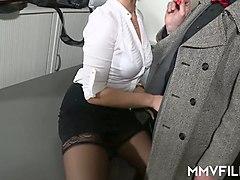 sex-starved brunette sina velvet is eager for crazy and hardcore sex with old fart