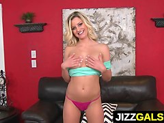 Sexy blonde Sienna Day gets the sausage