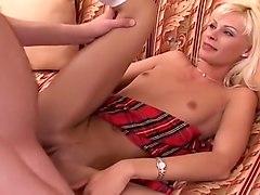 Fierce Blond Coed Taking Massive Cock
