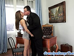 Busty eurobabe creampied in oldvsyoung action