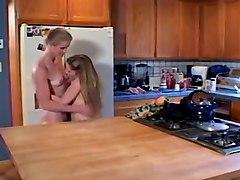 Horny Cunnilingus, Kitchen xxx clip