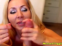 bigtitted milf jerks pov for the secret sauce