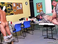 military hunks are banging each other in a classroom