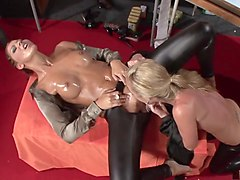 Best pornstars Eliss Fire and Morgan Moon in crazy blowjob, european porn video