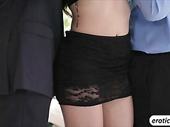 hot outdoor threesome with adria rae