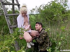 blonde teen anna reu gets nailed outdoors