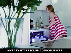 mybabysittersclub - babysitter gets hand stuck in sink and f