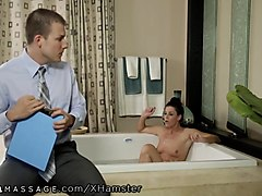 nurumassage sultry milf seduces shy young dick